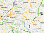 map of bristol showing marker of position Toms Rubbish